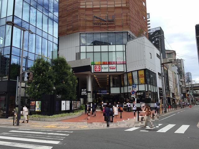 JR大阪駅からNU茶屋町・NU茶屋町...